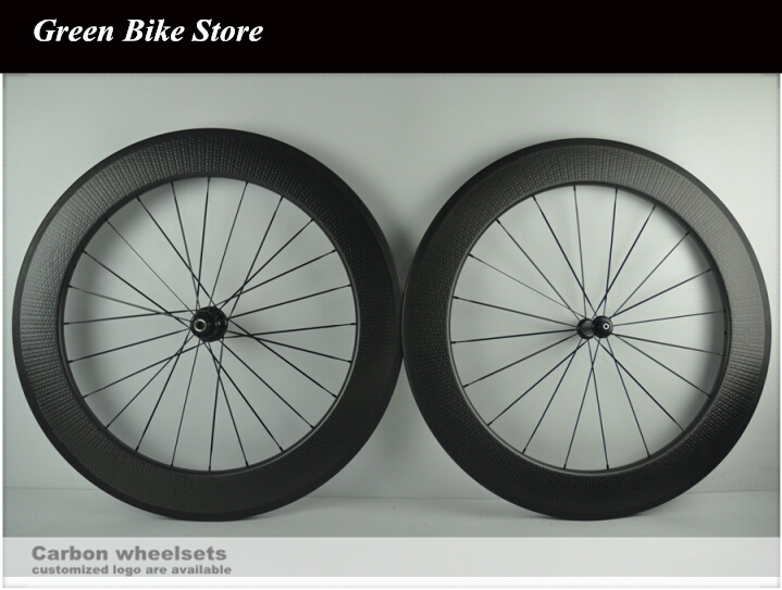Factory sale 80mm dimped wheelset clincher 25mm width dimled rims with powerway hub with free shippingFactory sale 80mm dimped wheelset clincher 25mm width dimled rims with powerway hub with free shipping