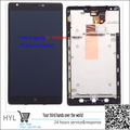 100% Original New Black Touch Screen Glass LCD display Digitizer with frame For Nokia lumia 1520  free shipping