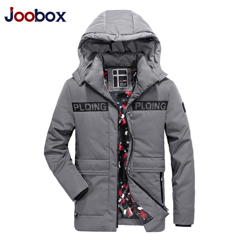 JOOBOX Brand 2017 High Quality Cotton 100% Mens Winter Jackets And Coats Hooded Long Thick Warm Casual Male Parka Fit Snow Cold men warm coats winter snow thick hooded slim fit down parka brand design casual cotton fashion padded outwear sl e437