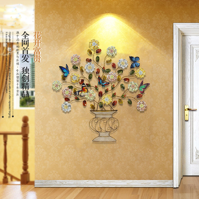 head Arts Crafts European iron hanging wall flowers Zhaocai Home ...