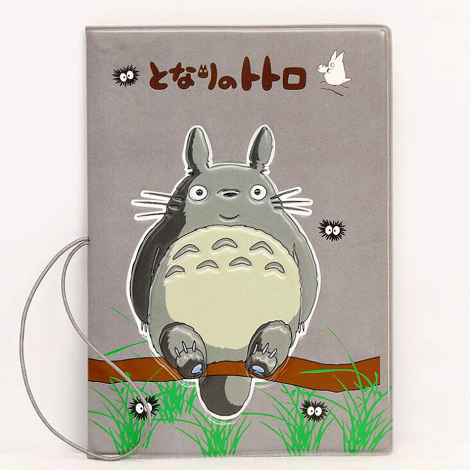 Cartoon Totoro Passport Cover Casual Women Travel Accessories Passport Holder Credit Id Card Case Business Pass Holder Wallet cute passport cover kumamon travel accessories pvc casual passport holder women business pass holder wallet credit id card