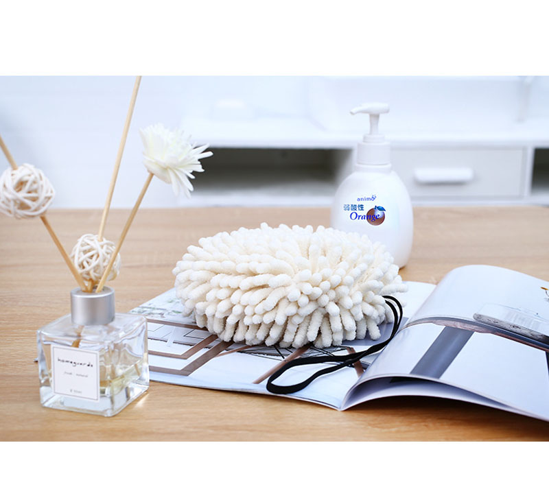 Chenille Hand Dry Towels Kitchen Bathroom Strong Water Absorption Quick Dry Towel Hanging Thick Lovely Hands Dry Ball (8)