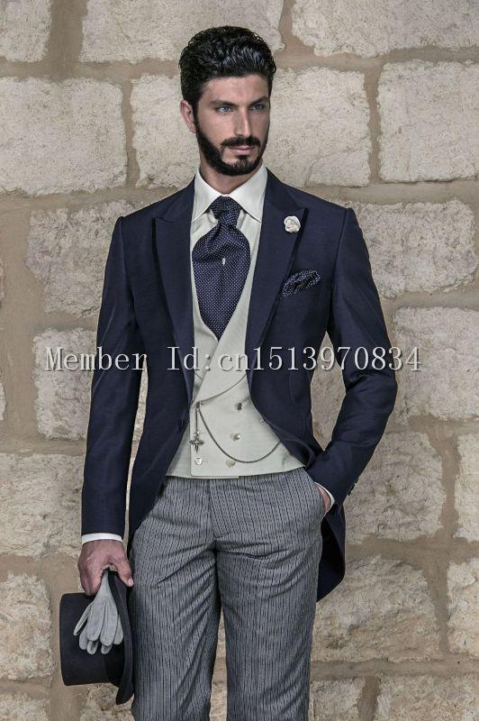 2015 Morning Style Custom tailor Groom Tuxedos Bridegroom Best Man ...