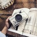 LEFTSIDE 2016 moda vintage diseño de la cámara forma divertida señoras del bolso mini bolso de mano del mensajero del hombro del embrague bolsa monedero de la cartera