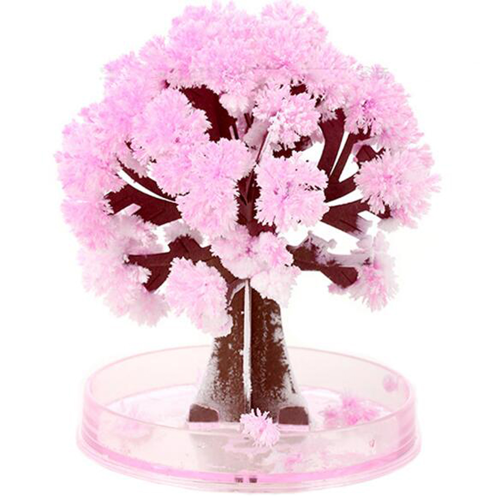 90mm Visual Magic Sakura Artificial Trees Decorative Growing DIY Paper Tree Gift Novelty Science Kids Toys Flower Tree Exploring