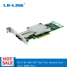 LR LINK 9802bf 2sfp + 10 gb 이더넷 카드 pci e 듀얼 포트 광섬유 서버 어댑터 intel 82599 호환 e10g41btda X520 DA2