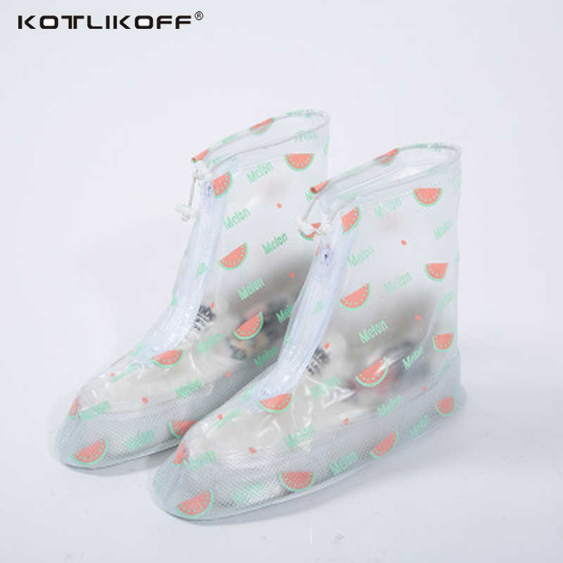 KOTLIKOFF ترقية 100% للماء غطاء للأحذية مضاد للماء الجرموق هي سميكة المطر السياحة غطاء الحذاء المضاد للماء إكسسوارات أحذية