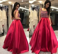 robe de soriee Cute A Line Prom Dresses Square Backless Floor Length Special Occasion Dress Popular Evening Party Gowns