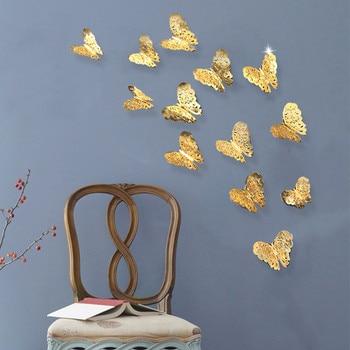 3D Butterfly Metallic 12pcs/lot    1