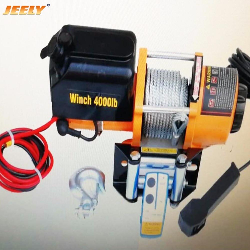 Jeely 12v 4000lb atv utv 4wd electric winch with wireless for Paranco elettrico telecomando senza fili