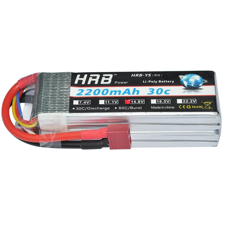 2 шт. HRB RC Lipo батарея 4S 14,8 V 2200MAh 30C для вертолета квадрокоптера лодки автомобиля самолета