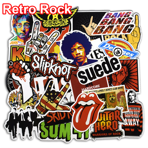 52 pçs retro rock banda música adesivos dia verde rhcp dead kennedys para portátil bagagem skate guitarra pvc adesivo à prova dwaterproof água
