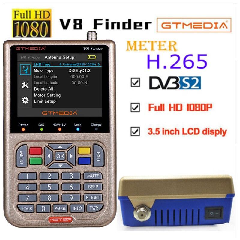 GTmedia V8 Finder Meter 2pcs DVB S2 vs satlink 6906 Satellite Finder 1080P HD Better than