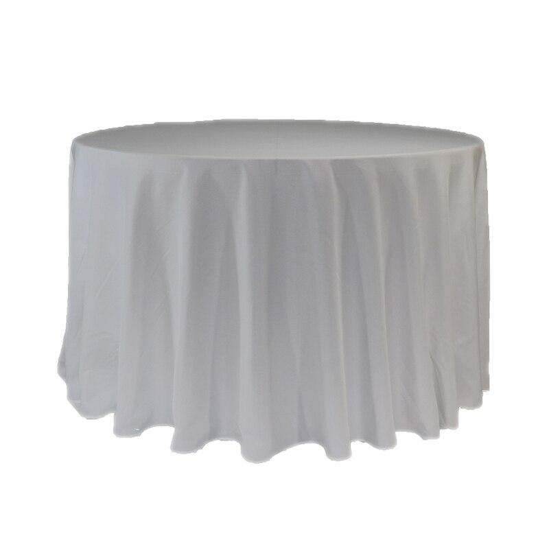 5 unids lote blanco al por mayor 300 cm mantel redondo para la boda color  decoración tabla evento partido Hotel restaurante Decoración c2473213365