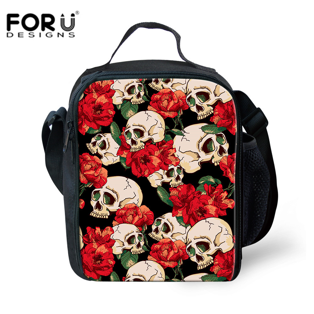Cute Printed Insulated Lunch Bag Picnic Childrens School Packed Lunch Bento Tote
