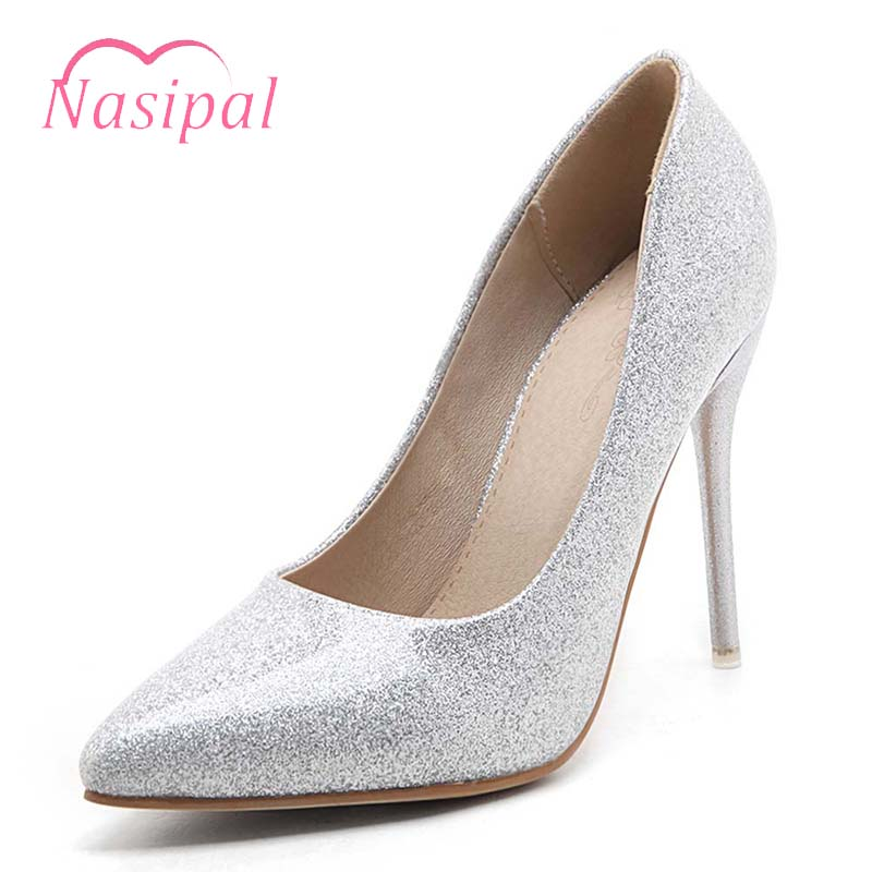Or Pompes De Argent rose Bout Nasipal argent rouge Chaussures Or Mince Zapatos Femmes Stilettos Cuir Verni Haute Talons Mujer Mariage Femme Dames Pointu En wzzqc1F7RA