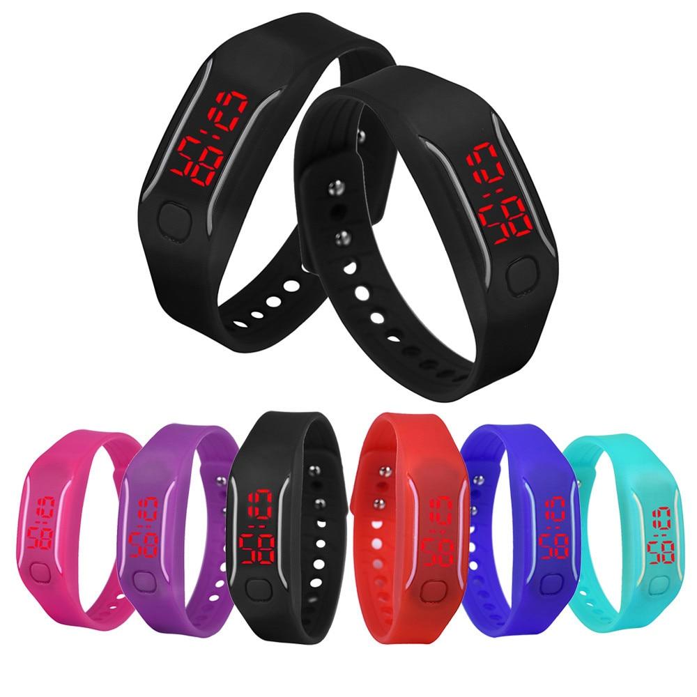 Bracelet Wrist-Watch Digital Sports Silicone Hot-Sale Womens Cheapest Date Black
