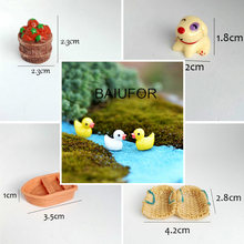 BAIUFOR Miniature Collections Fairy Garden Decor Decor Moss Landscape Accessories diy Terrarium Figurines Dog Tree Totoro House(China)