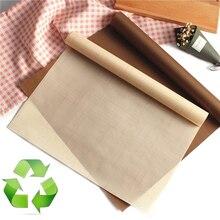 TTLIFE 50pcs/lot Teflon Heat Press Pad Reusable Baking Mat Non-Stick Craft Sheet Resistant BBQ Grill & Mats Macaron