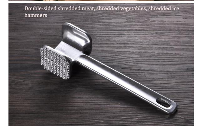 Hammer Household Kitchen Utensils Stainless Steel Hammer Meat Beef Tender Kitchen Gadgets Diy Shredded Meat/vegetables/ice 3 In 1 Breakfast Maker Parts Home Appliances