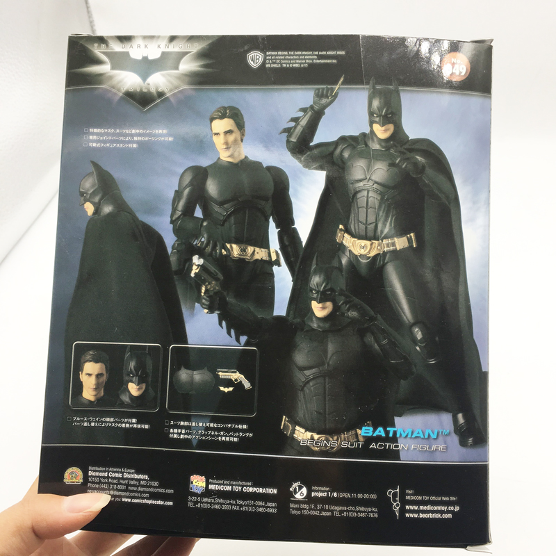 "In STOCK Medicom MAFEX DC Comics /""Batman Begins Suit 049/"" Action Figure"