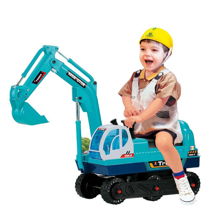 Children can sit and ride, dig the soil, build children's cars, electric children's cars, excavators, toys, children's cars. цены онлайн