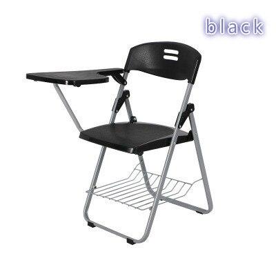 2 Pcs new Folding Chair Train Chair Bring Writing Board Chairs Office Chair Plastic Student Teaching цена