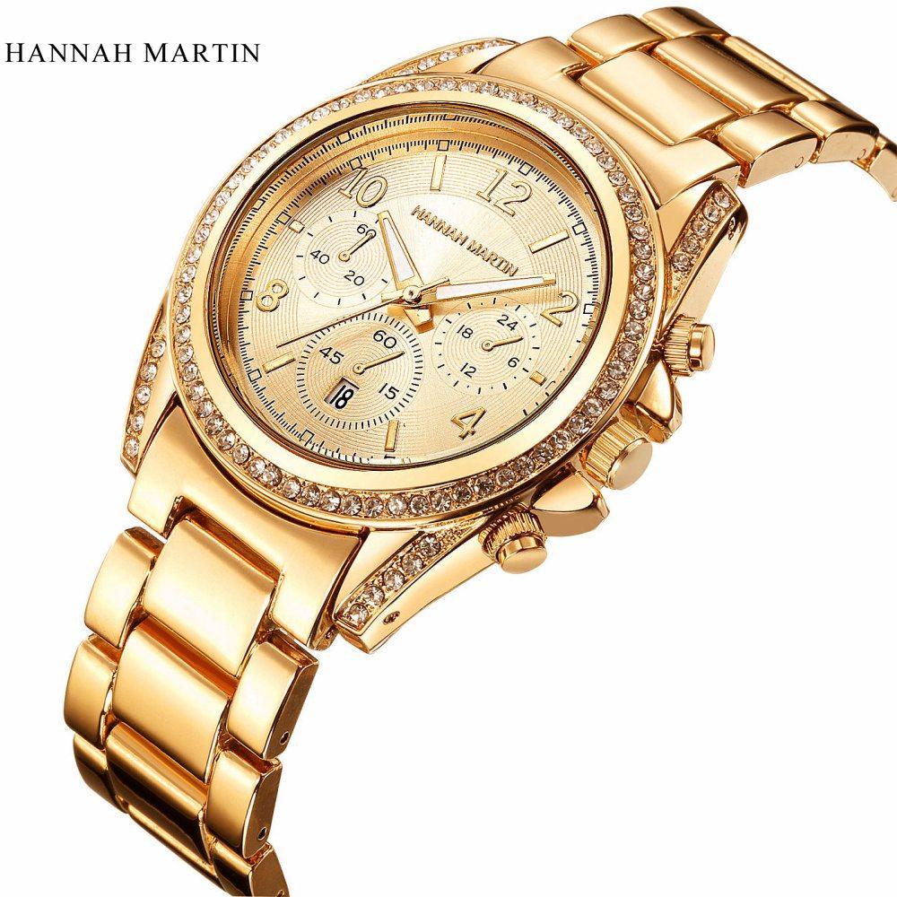 2017 Γυναίκες πολυτελή χρυσά ρολόγια - Γυναικεία ρολόγια - Φωτογραφία 1