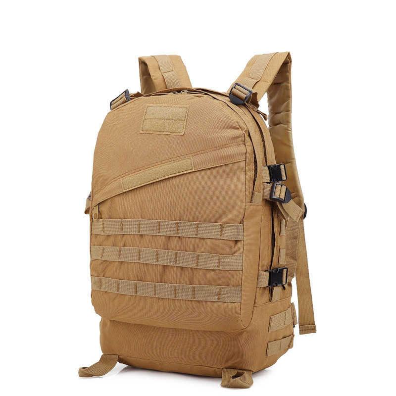 Pubg frango jantar 3-level mochila 55l 3d esporte ao ar livre militar tático saco de acampamento caminhadas saco ao ar livre montanhista