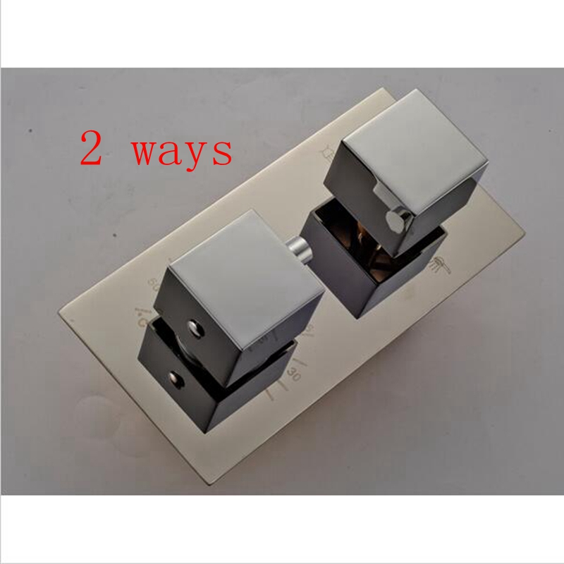 2 Ways Wall Mount Chrome Shower Valve 2 Handles Replacement Control ...