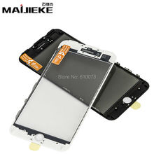 MAIJIEKE AAA+ cold press 3 in 1 Front Screen Glass With Frame OCA For iphone 7 7g plus 6 6s plus 5 5s 5c repair Replacement