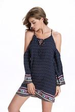 2017 New Summer Style Women Print Camis Dress Floral Ethnic Casual Dresses Boho Gypsy vestidos femininos vestido de festa