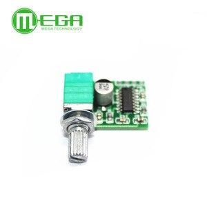 Image 1 - 100 PAM8403 mini 5 V placa amplificador digital com interruptor potenciômetro pode ser alimentado por USB