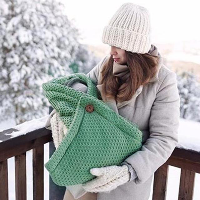 ถุงนอนเด็กทารกแรกเกิด Swaddle Wrap Sleep Sack ฤดูใบไม้ร่วงฤดูหนาวหนาอบอุ่นเด็กทารก Footmuff สำหรับรถเข็นเด็ก 0 9M ซอง