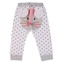 Spring Autumn   Baby   Boys Girls   Pants   Cartoon Animals Style Kids Harem Trousers Pocket Elastic   Pant