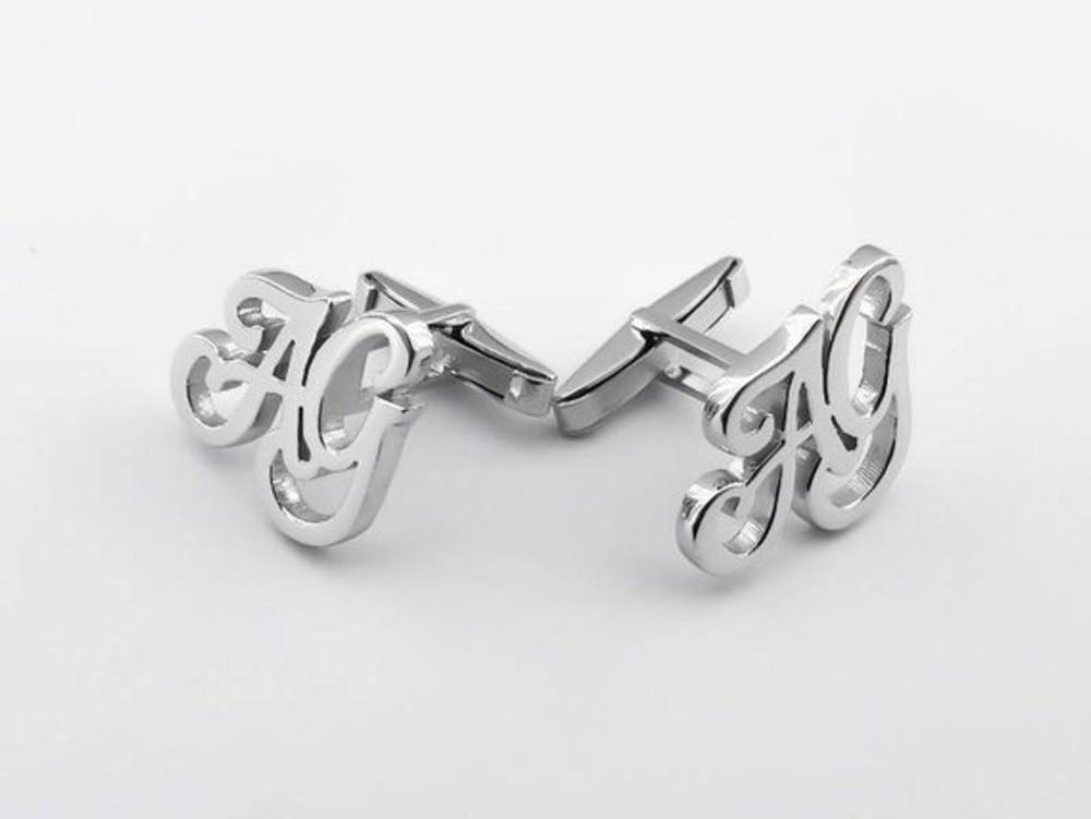 Initial Cufflink Personalized Cufflinks Groom Wedding Letters Cufflinks Men Father's Day Birthday Gift For Him Groomsman Friends