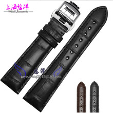 Alligator leather strap Apply to the master original folding buckle strap Male 20 21 mm band