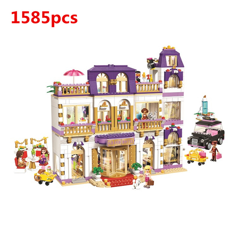 1585Pcs Belle's Girl Friend Building Blocks Heartlake Grand Hotle Girls Building Block Toy Compatible with Self-Locking Bricks peter block stewardship choosing service over self interest