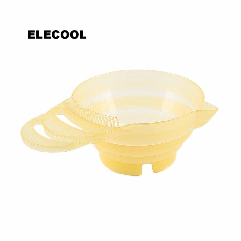 ELECOOL 300 ml פלסטיק קערות ערבוב צבע שיער צבע לשיער צבע DIY מעצבי שיער סטיילינג כלי עם ידית