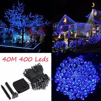 42M 137.8Ft Solar Powered 400 LED Fairy String Light Outdoor Garland Garden Christmas Tree Wedding Party Decoration Lamp