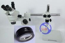 Big sale FYSCOPE  7X-90X! Single Boom Stand Trinocular Stereo Zoom Microscope Digital Microscope  SZM2.0X 30mm working distance