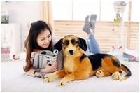 ضخم جميل simulaiton الراعي الألماني الكلب لعبة أفخم الكذب الراعي الألماني الكلب الدمية هدية حوالي 90 سنتيمتر