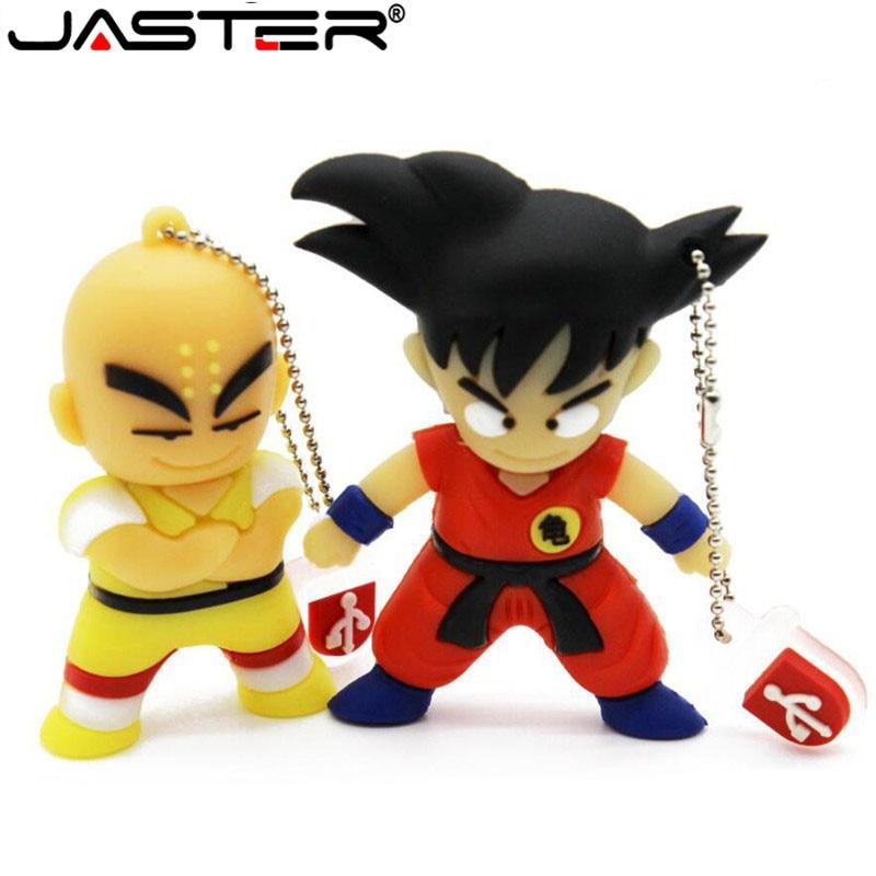 JASTER Goku Kuririn Gifts pen drive 4GB 16GB 32GB 64GB Dragon Ball Usb Flash Drive Pendrive memory stick USB creativo Wholesale-in USB Flash Drives from Computer & Office