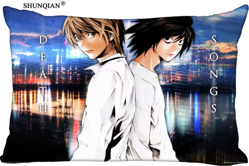 New Japanese Anime Death Note Pillow Case Custom Wedding Pillowcase Cover Cases Gift Zippered Rectangle Pillow Case