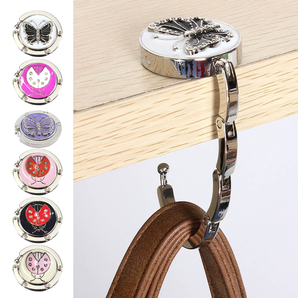 New Fashion Butterfly Beetle Purse Handbag Hook Folding Hanger  FC55
