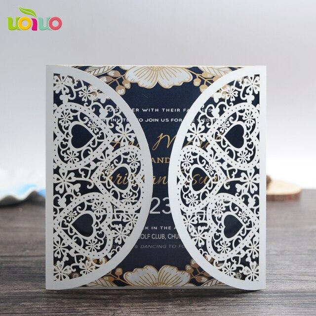 Luxury Heart Simple And Elegant Wedding Invitations Handmade Wedding