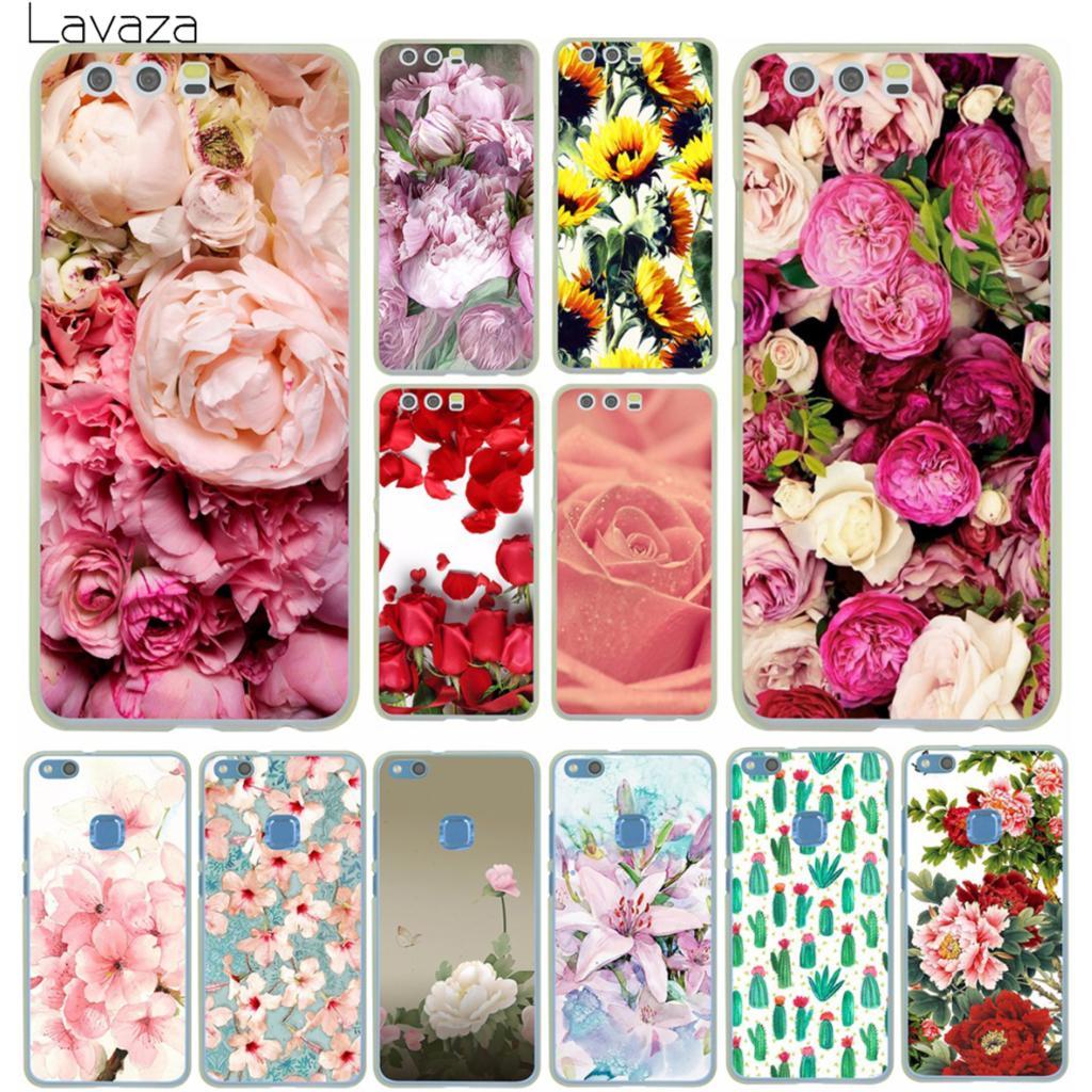 Lavaza довольно пион Дейзи Подсолнечник розы растений цветок чехол для телефона для huaw ...