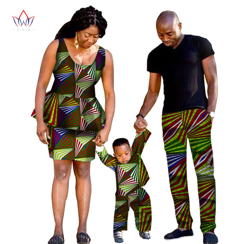 2017 african traditional clothing fashion family matching