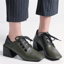 Sexy Wedding Mary Janes Shoes Women Lace Up Cow Leather Chunky High Heels Party Pumps Lady Office Shoes Punk Goth Casual Shoes sorbern fashion mary janes women pumps black shiny high heels chunky heeled platform shoes night party shoes pole dance shoes