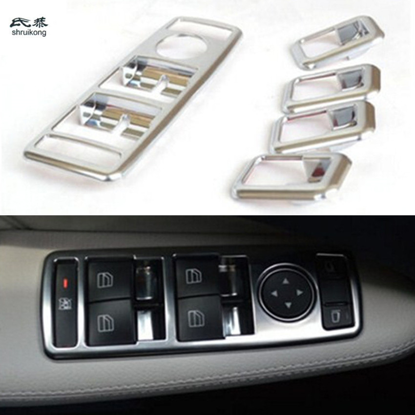 Car styling stickers car Interior door window switch lift panel trim cover sequins ABS for Tesla MODEL S X